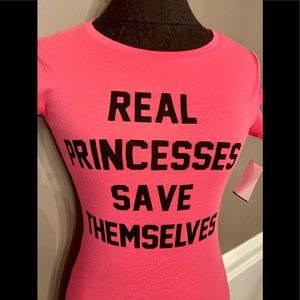 """Tops - 💖 """"Real 👸 Princess"""" Graphic Tee in Pink or White"""